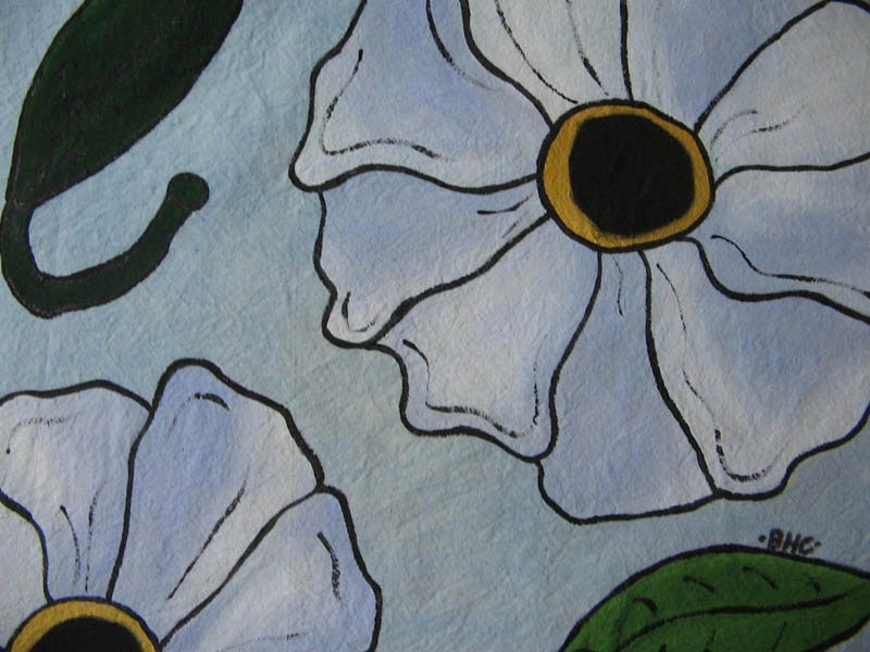 "18"" x 18"", Acrylic based Textile paints on Cotton"