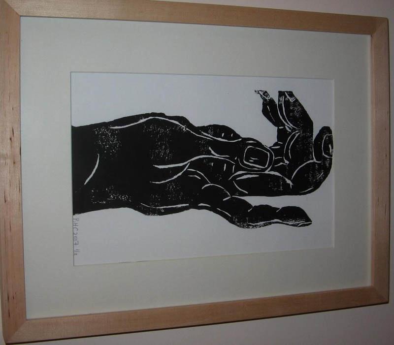 42cm x32cm, Lino Print, 2007