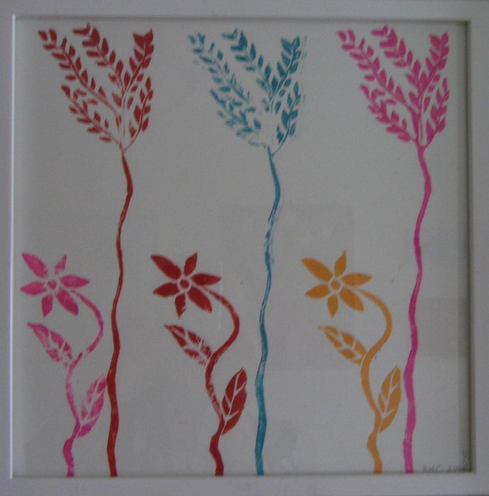40cm x40cm, Lino Print, 2008