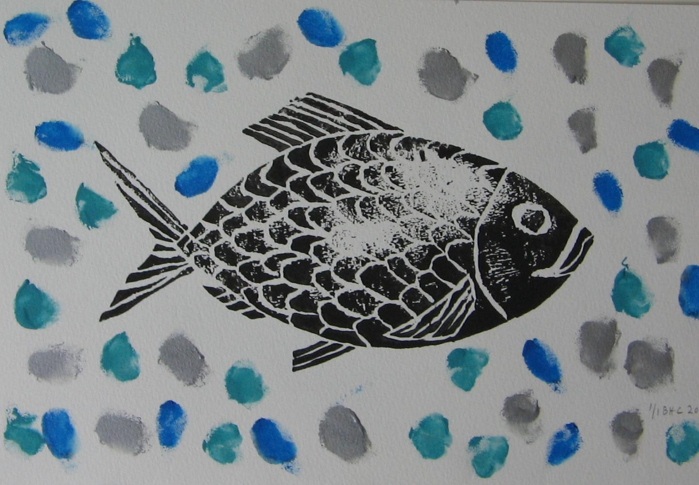 """10""""x14"""",Printing Ink on Watercolour Paper, 2011"""
