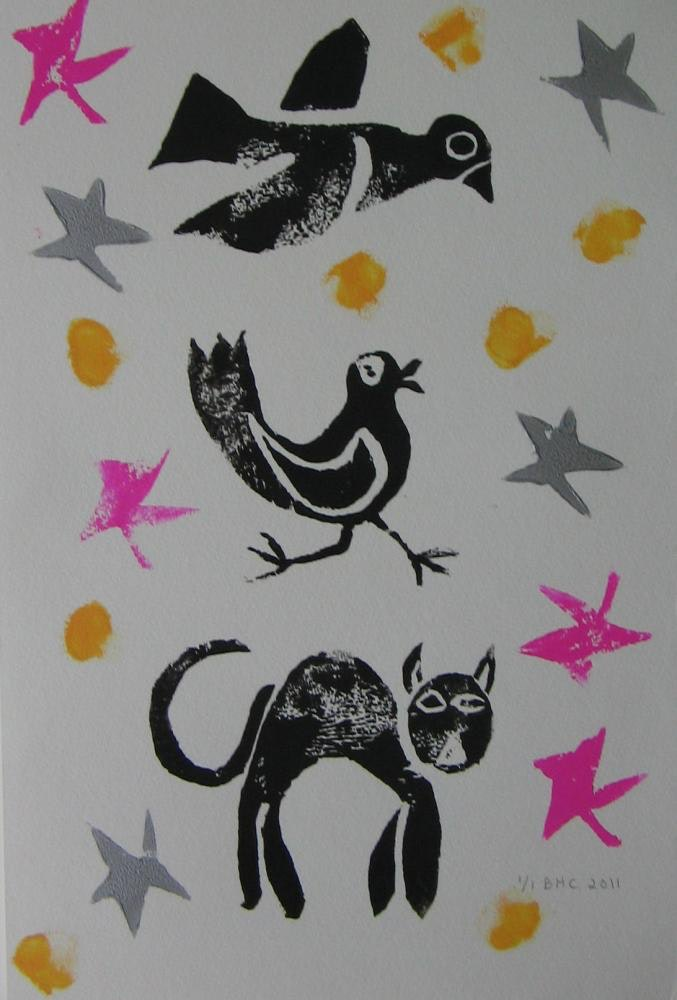 """10""""x14"""",Printing Ink on Watercolour Paper,2011, SOLD"""
