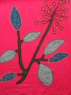 18'x18', Acrylic based Textile paints on Cotton, 2012,
