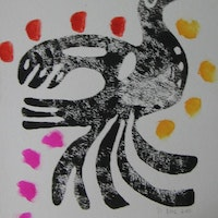 "10""x14"",Printing Ink on Watercolour Paper, 2011, SOLD"