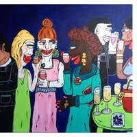 4ft x 30inch + 1.20cm x 76cm, Acrylic on Canvas, 2014 SOLD